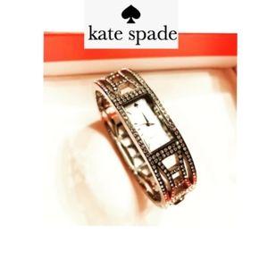 ♠️ Authentic Kate Spade ♠️ Silver Pavè Bow Watch